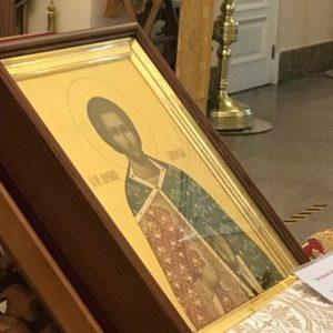 В алтарь храма была передана редкая икона мученика Авраамия Болгарского.