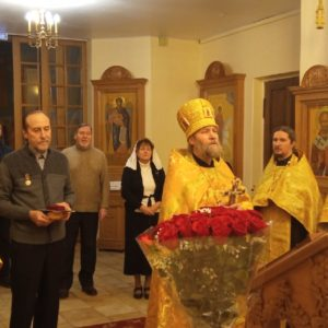 Благодарственный молебен в день 60-летия председателя Приходского Совета ПокровХрам Игоря Александрова.