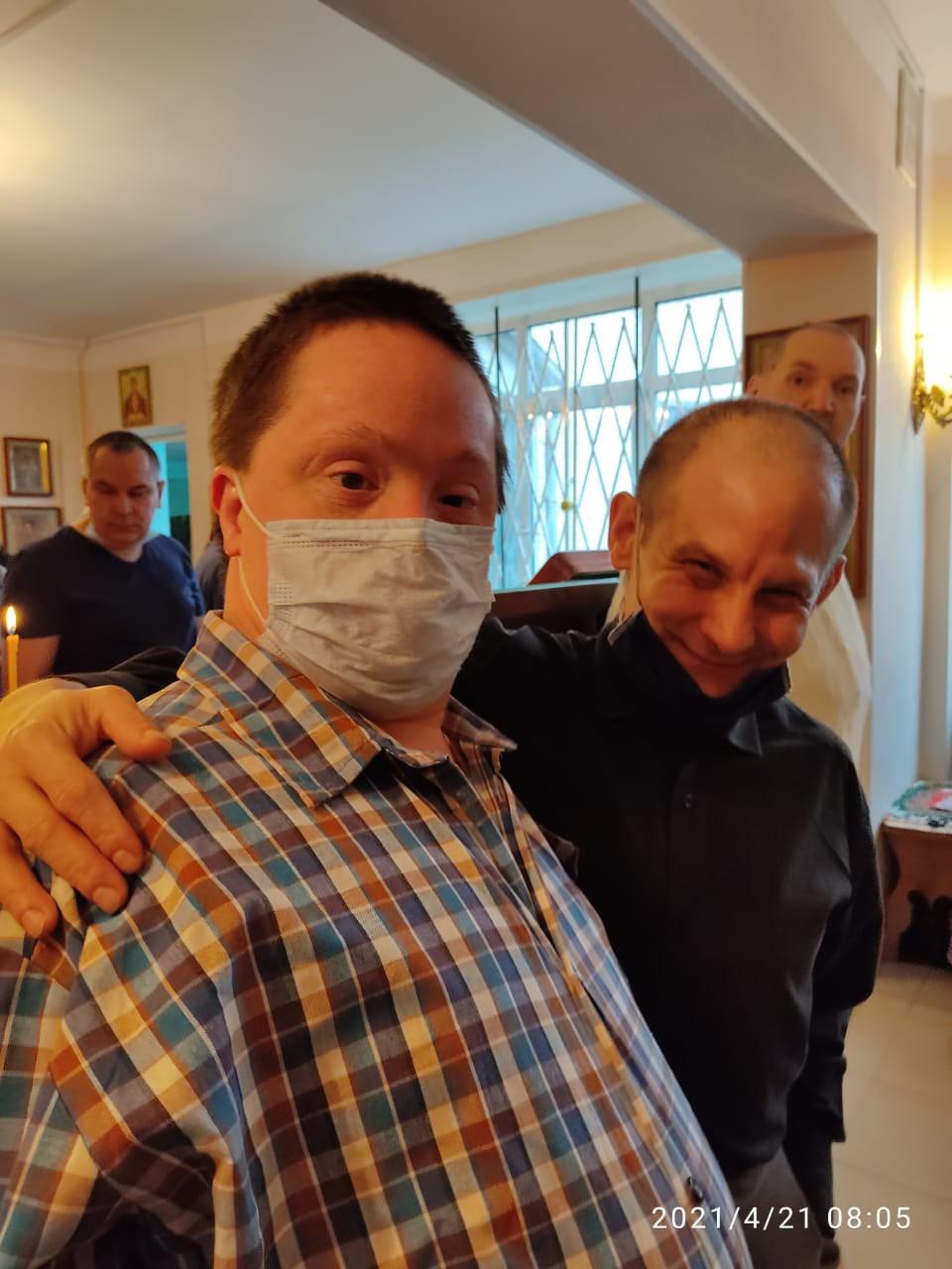 Литургия Преждеосвященных Даров в Психоневрологическом интернате №7