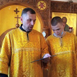 Ранняя литургия в Психоневрологическом интернате N 7 в день памяти святых бессребреников Космы и Дамиана