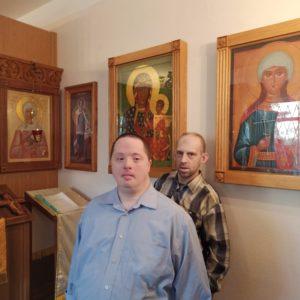 Ранняя литургия в храме святого праведного Иоанна Кронштадского при Психоневрологическом интернате N7
