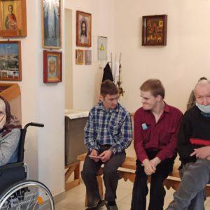 Традиционная ранняя литургия в храме святого праведного Иоанна Кронштадского при Психоневрологическом интернате N7